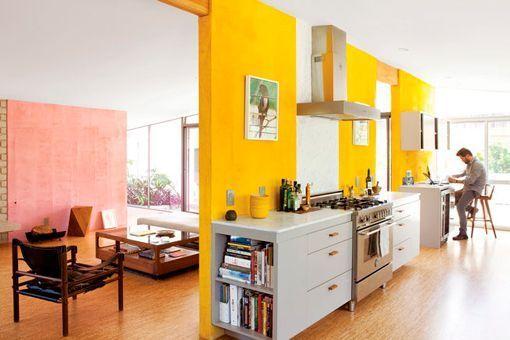 C mo pintar una pared de un solo color - Paredes pintadas de dos colores ...
