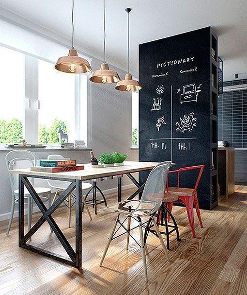 Integrar sal n comedor y cocina en el mismo espacio for Pintura a color cocina abierta