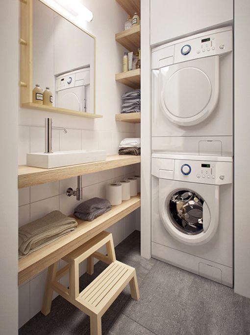 Zonas de lavado y plancha c modas y funcionales - Tablas de planchar pequenas ...