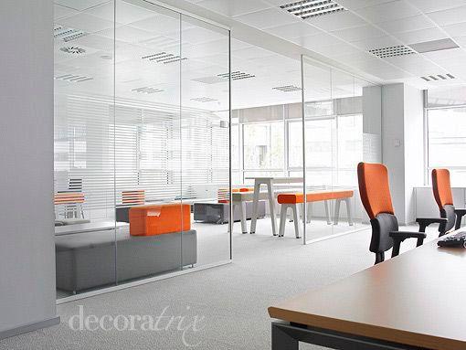 Mamparas de cristal para separar espacios - Separadores oficina ...