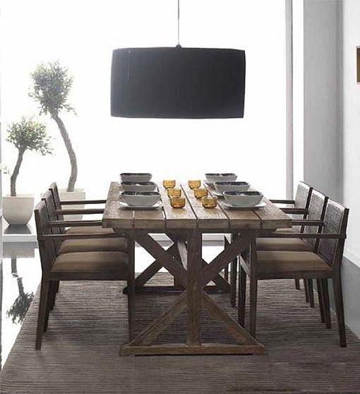 Mesas de comedor de madera natural for Mesillas madera natural