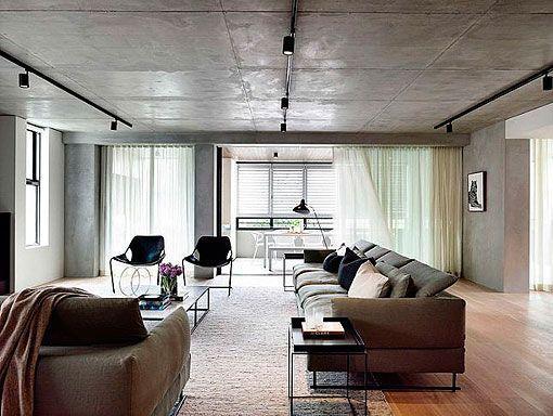 Decorar Un Salon Moderno En Tonos Grises Y Negros - Decorar-salon-moderno-fotos
