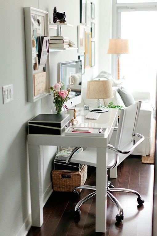 Dise o de oficinas en casa ideas y soluciones para inspirarte - Escritorios espacios pequenos ...