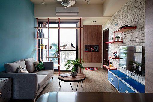 Apartamento juvenil y moderno de 60 metros for Diseno de un apartamento moderno