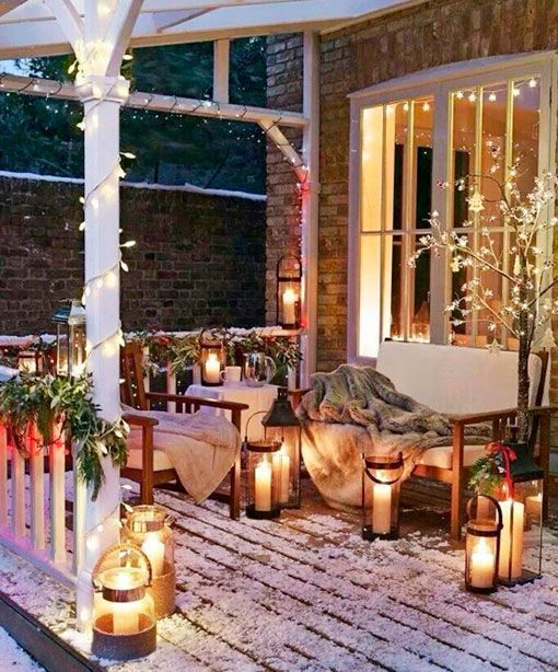 Ideas para decorar el exterior en navidad for Luces para exterior de casa