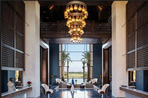 Hotel Royal Palm Marrakech, en Marruecos: halll