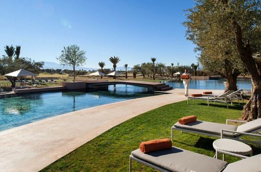 Hotel Royal Palm Marrakech, en Marruecos: piscinas