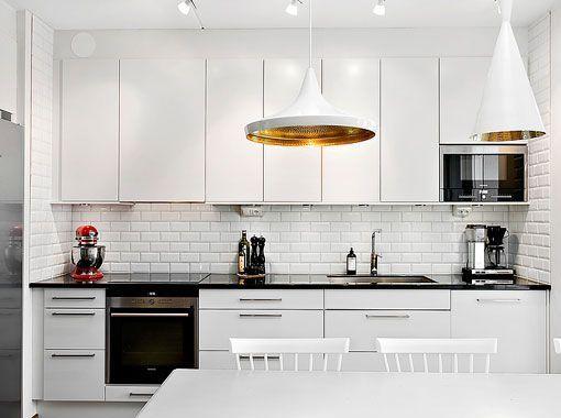 Una casa de 80 metros cuadrados con dos terrazas - Cocinas modernas de 9 metros cuadrados ...