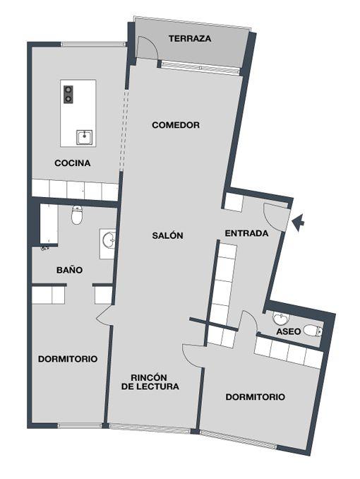 Especial distribuci n planos de casas para reformas - Reforma integral piso 80 metros cuadrados ...