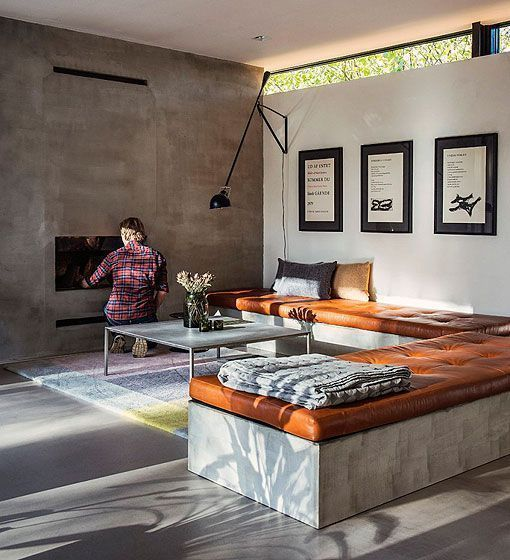 Polished Concrete Floor Living Room Interiors
