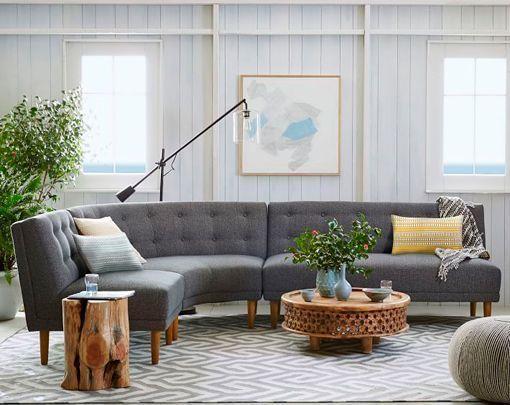 cómo decorar el salón con sofás esquineros