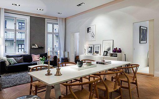 Salon Comedor Nordico.Apartamento Moderno Y Elegante Al Estilo Nordico