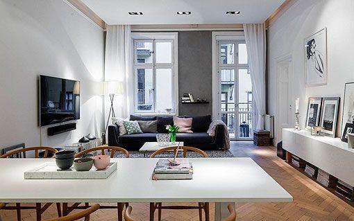 Apartamento moderno y elegante al estilo n rdico for Diseno de un apartamento moderno