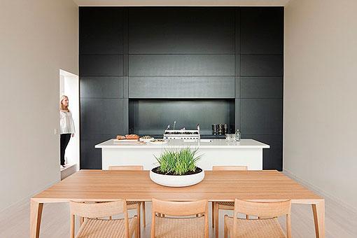 Cocina en blanco negro y madera ap ntate a esta tendencia - Cocinas en blanco y negro ...
