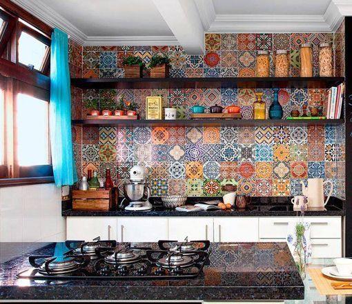 Frentes de cocina revestidos con azulejos decorativos - Azulejos vinilicos ...