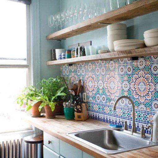Cocina Azulejos   Frentes De Cocina Revestidos Con Azulejos Decorativos