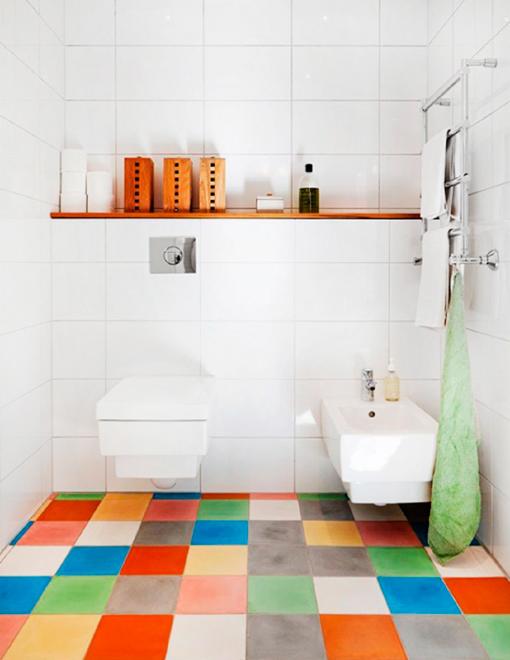 Baldosas decorativas para el cuarto de baño