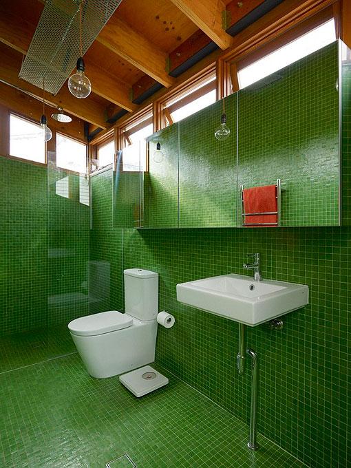 Baños En Colores Vivos: Verde