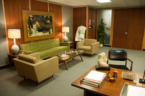 Decoración de oficinas: set de Mad Men