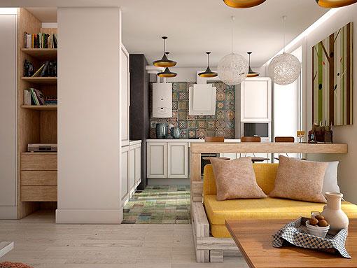 Apartamento de 50 metros c mo optimizar su superficie for Diseno de apartamentos de 50 metros cuadrados