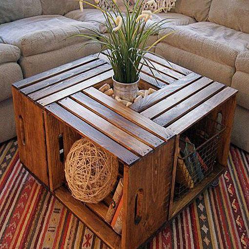 Diy en un trix crea tus muebles con cajas de madera for Ideas para decorar la casa facil y economico