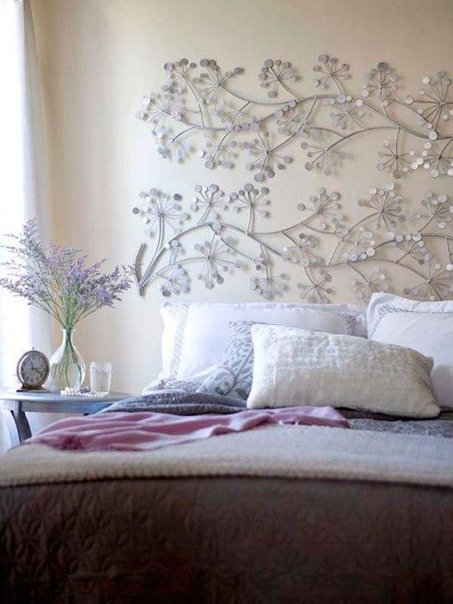 12 ideas para decorar el cabecero de la cama - Adornos de pared de forja ...