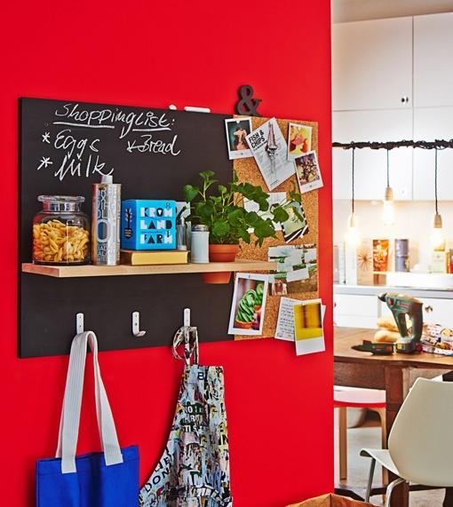 Panel organizador para mantener el orden en la cocina - Panel pared cocina ...