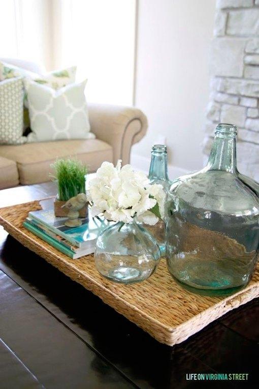 C mo decorar la mesa de centro en el sal n - Decorar mesa de centro de cristal ...