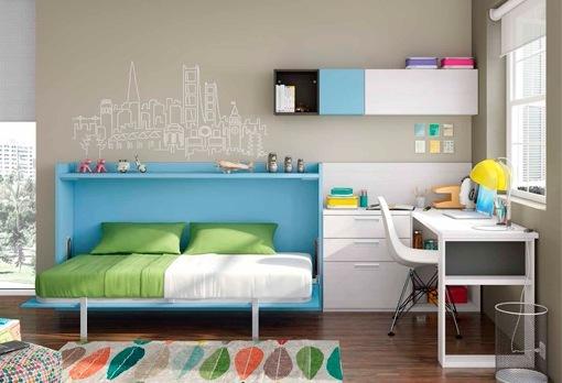 Camas y literas plegables para habitaciones juveniles for Habitacion juvenil 2 camas