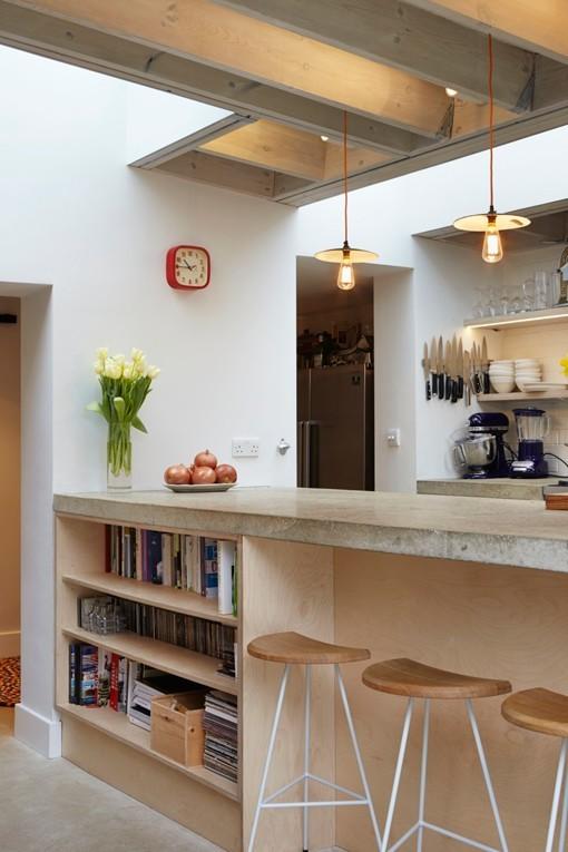 Ampliaci n de una cocina hacia el jard n interior for Cocinas con vista al jardin