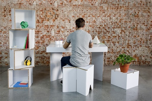 Muebles de cartón CARDBOARD FURNITURE AND PROJECTS (Munerix e Infix)