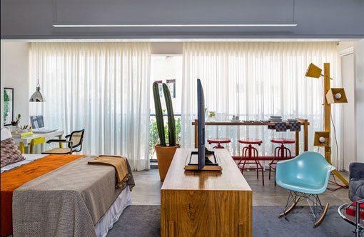 Distribuir un apartamento peque o 42 m2 bien aprovechados for Como organizar un apartamento muy pequeno