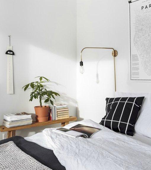 Ideas de mesitas de noche para dormitorios mini for Mesita noche colgante