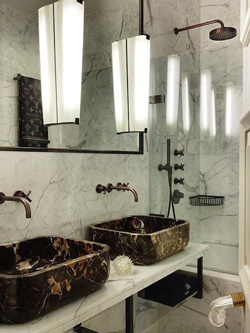 Add an elegant touch to your bathroom with a natural stone sink