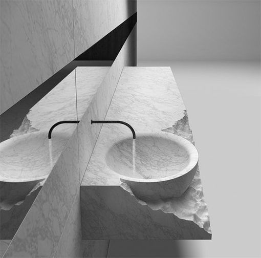 Add an elegant touch to your bathroom with a natural stone / Henrytimi sink