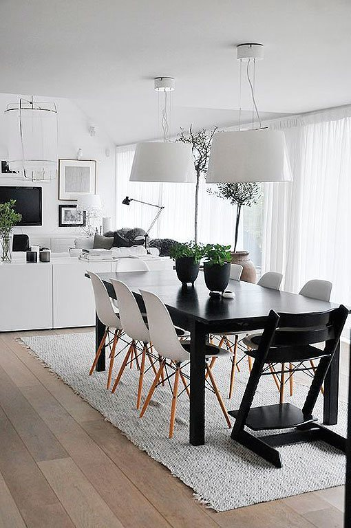 Comedores con sillas de diseño moderno