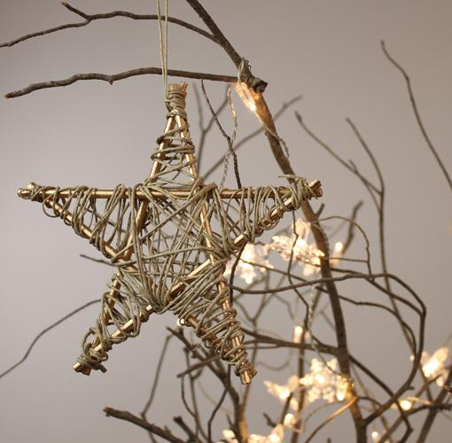 Estrella de navidad para colocar en el rbol - Como decorar un arbol seco ...