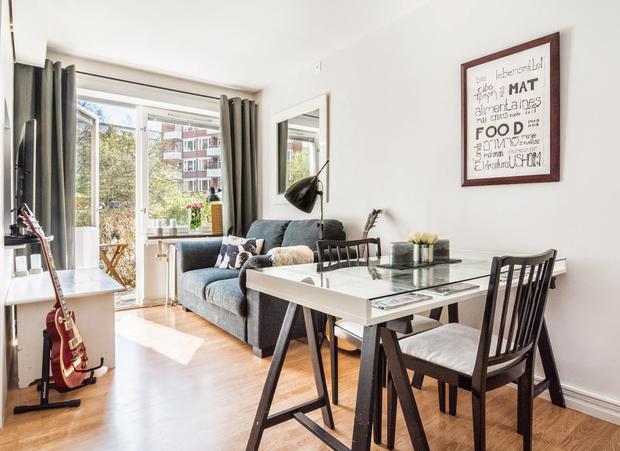 Un apartamento de 30 m2 en un bajo soleado - Como amueblar un piso ...