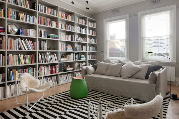 crear una biblioteca en casa. Black Bedroom Furniture Sets. Home Design Ideas