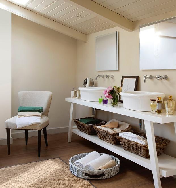 Mesa Para Lavabos Modernos.Banos Para Dos Espacios Funcionales