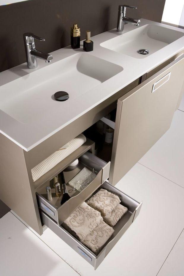 Ba os para dos espacios funcionales for Muebles de bano con encimera
