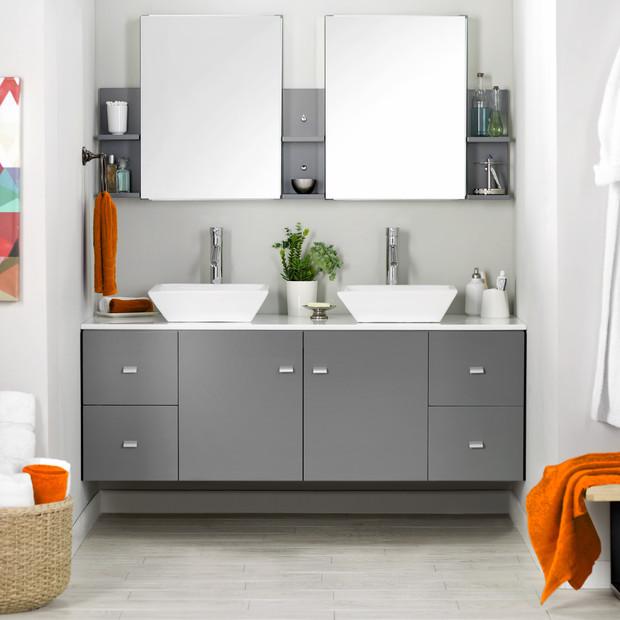 Ba os para dos espacios funcionales for Banos con dos lavabos