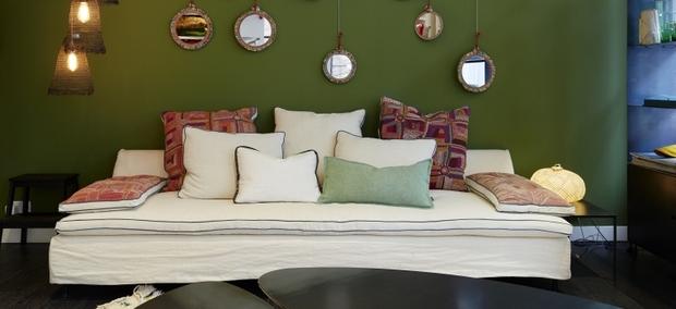 Como Decorar Un Sofa Blanco Con Cojines.Como Elegir Los Cojines Para El Sofa