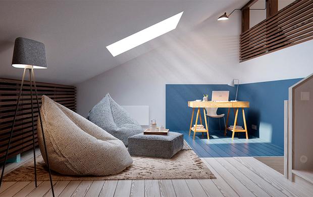 Great Dormitorio Moderno En La Buhardilla 3