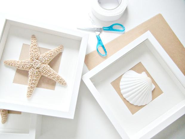 Manualidades con conchas, caracolas y otros tesoros del mar