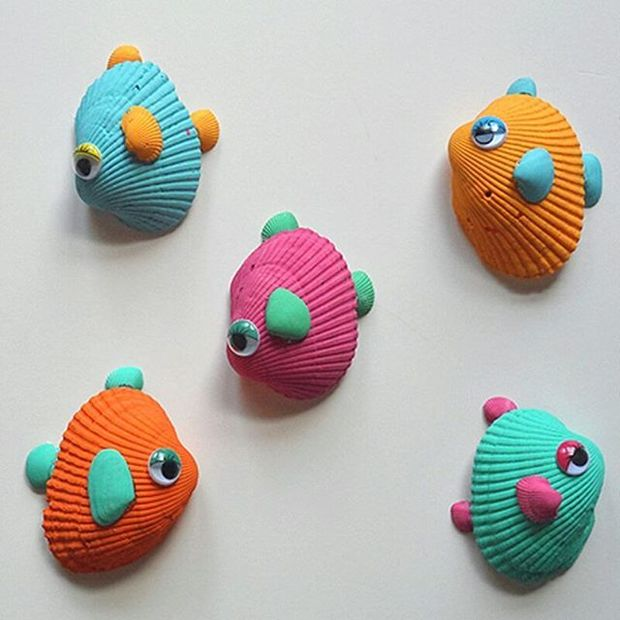 Conchas de mar pintadas
