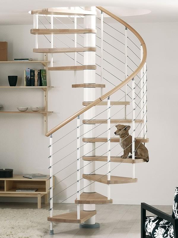 Escaleras de caracol para interior y exterior for Casas modernas interior y exterior