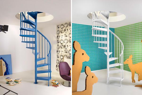 Escaleras de caracol para interior y exterior