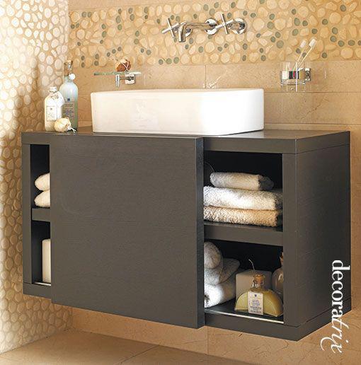Muebles de ba o suspendidos for Muebles de lavabo de 60 cm