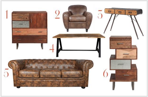 Muebles de diferentes estilos vintage - Mobiliario vintage industrial ...